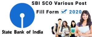 SBI SCO Various Post 2020